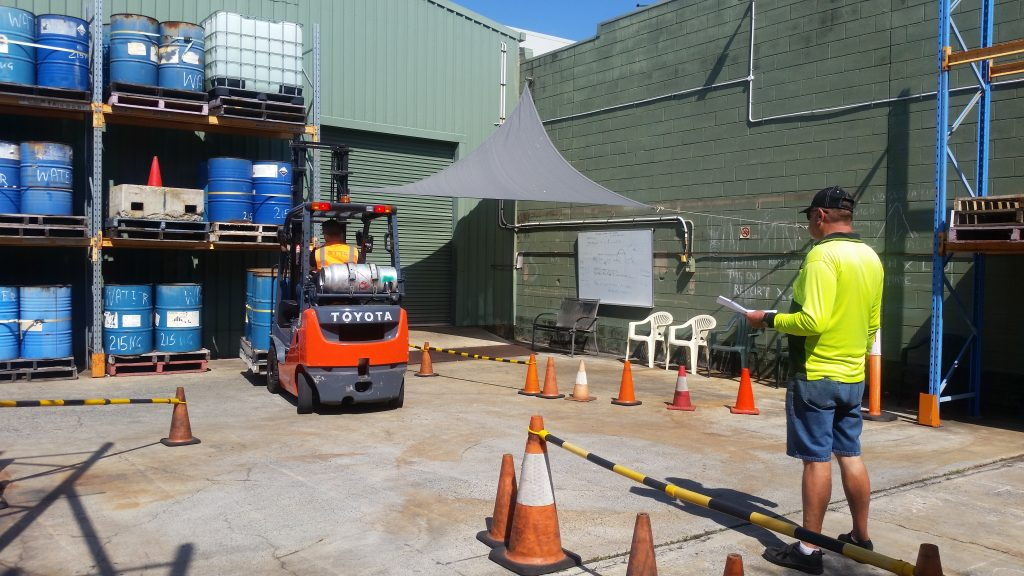 on site forklift training